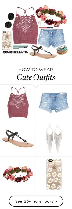 """Coachella Outfit #1"" by anniem956 on Polyvore featuring Glamorous, rag & bone/JEAN, Old Navy, Forever 21, Casetify, NARS Cosmetics, Jules Smith and coachella"