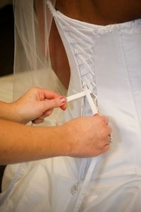 Adding a corset back helps you fit into your wedding dress perfectly and saves you valuable money. Corset Back Wedding Dress, Big Wedding Dresses, Making A Wedding Dress, Diy Wedding Dress, Diy Dress, Formal Dresses, Wedding Ideas, Dress Sewing, Wedding Stuff