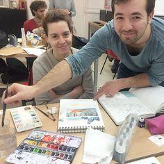 Emma Geisert et Léonce Lusseau au travail !