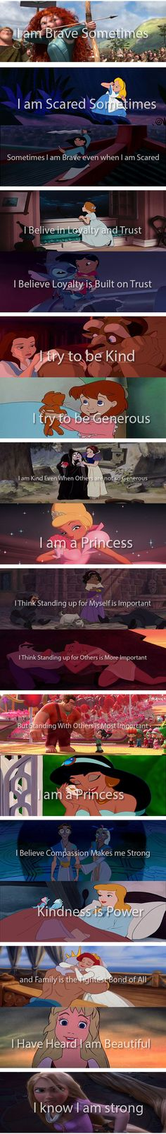 I really love the last one with Rapunzel. She will always right for her happiness. she IS strong.