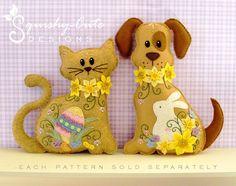 Stuffed Animal Pattern - Felt Plushie Sewing Pattern & Tutorial - Daffodil the Easter Dog - Embroidery Pattern PDF. $5.00, via Etsy.