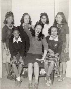 """  African American teenage girls c.1950's """