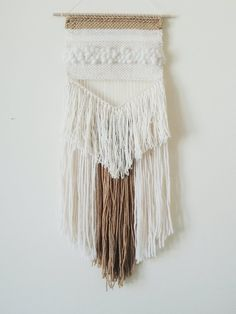 Hand Woven Wall Hanging, Woven Tapestry, Weaving wall hanging by undertheoaktreeshop Weaving Textiles, Weaving Art, Tapestry Weaving, Loom Weaving, Hand Weaving, Weaving Wall Hanging, Tapestry Wall Hanging, Wall Hangings, Textile Fiber Art