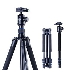 (69.55$)  Watch now - http://aisi4.worlditems.win/all/product.php?id=32682828975 - Manbily AZ300 Professional Tripod For DSLR Camera Compact Travel Tripod Monopod With Ball Head SLR Camera Stand Better than Q999