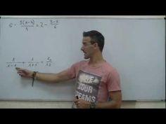 Ecuacion racional con fracciones 01 2ºESO unicoos matematicas BLOG DE VIDEOS