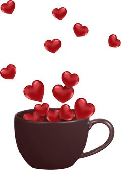 """Photo from album """"Valentine's Day / День святого Валентина"""" on Yandex. Love Heart Images, Love You Images, I Love Heart, Morning Love, Good Morning Coffee, Morning Kisses, Morning Gif, Heart Wallpaper, Love Wallpaper"""