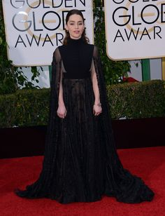Emilia Clarke in Valentino Haute Couture at the 73rd Annual Golden Globe Awards, on January 10th, 2015.