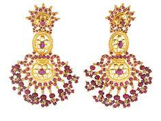 Ruby Earrings in 20K - Beladora Antique and Estate Jewelry