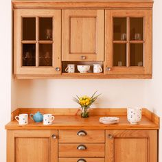 Solid Wood Kitchen Cabinets, Timber Kitchen, Kitchen Units, Kitchen Doors, Oak Cabinets, Wooden Kitchens, Solid Oak Doors, Natural Kitchen, Design Your Kitchen