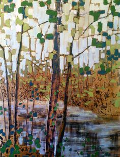 paperimages: Kim Atlin: what a lovely tile mosaic this would make in a bathroom.