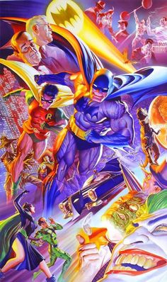 Batman 75th Anniversary Poster By Alex Ross!