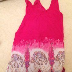 Elephant dress bought at Koh Samui .. beautiful ... pink ....