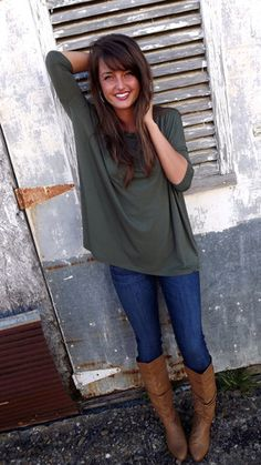 Army Green 3/4 Sleeve Piko