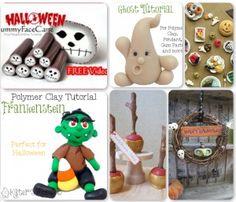 21 Halloween Polymer Clay Tutorials - Quad 2