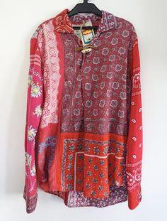 681b5d5c83e3ed GO West X Key Retro Visvim WWII Vintage Military Fabric Recycle Ethnic  Shirt S