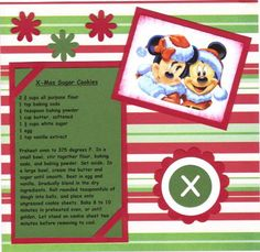Disney 6x6 Recipe Swap by NancyLuvsMickey - Cards and Paper Crafts at Splitcoaststampers