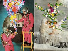 I just love the way artist Ben Giles alters vintage and fashion photographs to create the most fabulously eccentric collages.
