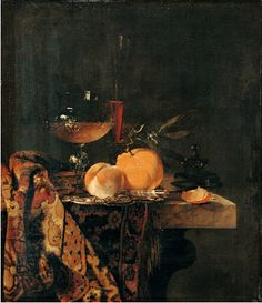 Willem Kalf (1619-1693) Still Life with Glass Cup and Fruits, Gemäldegalerie, Berlin