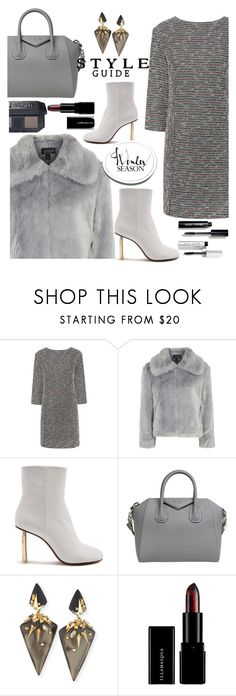 """""""Untitled #977"""" by pesanjsp ❤ liked on Polyvore featuring Paul & Joe Sister, Topshop, Vetements, Givenchy, Alexis Bittar, Illamasqua and Bobbi Brown Cosmetics"""