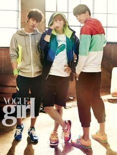 Gi Kwang, Yoseob, Dong Woon - Vogue Girl Magazine January Issue '13