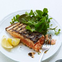 Grilled Mustard-Herb Salmon | This classic recipe is easy to make and just as healthy as it is delicious.