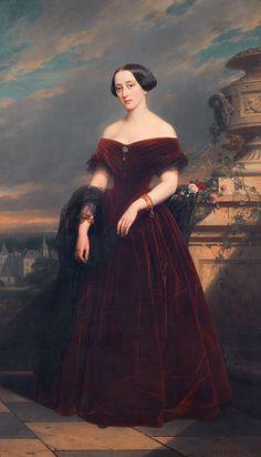 1852 Isabelle Antoinette Baroness Sloet van Toutenburg, by Nicaise de Keyser (location ?) Wm