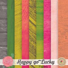 Happy Go Lucky {Wooden Papers} :: Papers :: Memory Scraps