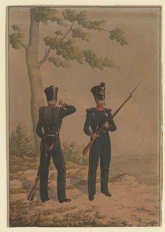 British; Sepoys of Ceylon or Madras rifles c.1830