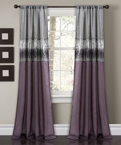 This Purple & Gray Night Sky Curtain Panel is perfect! #zulilyfinds