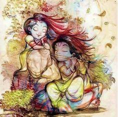 Hare Krishna, Radha Krishna Love, Radhe Krishna Wallpapers, Lord Krishna Wallpapers, Krishna Drawing, Krishna Painting, Lord Krishna Images, Radha Krishna Pictures, Comics Und Cartoons