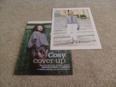 for sale £1 plus p/p 2 ladies patterns taken from a magazine