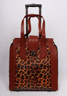 Laptop Designer Bags ON Wheels P D Chantal Collection Leopard #fashion #travel #bag click to buy!