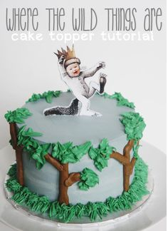 The Welch Cupcakery: Where the Wild Things Are Cake Topper Tutorial