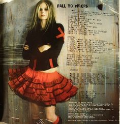 Avril Lavigne. Fall to pieces