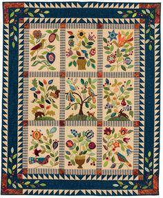 My Enchanted Garden quilt pattern by Gretchen Gibbons at Martingale