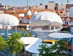 carolina gonzález vives inflates clouds observatory on madrid rooftop
