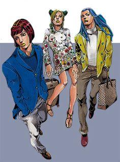 Gucci Goes Manga. The Italian Brand Collaborates With Illustrator Hirohiko Araki