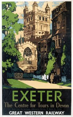 An poster sized print, approx (other products available) - Great Western Railway poster. Artwork by Leslie Carr.<br> - Image supplied by National Railway Museum - poster sized print mm) made in Australia Posters Uk, Train Posters, Railway Posters, Poster Ads, Vintage Travel Posters, Poster Prints, Art Prints, British Travel, National Railway Museum