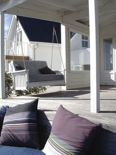 Beach Houses, Bungalows, Spas, Porch Swing, Outdoor Furniture, Outdoor Decor, South Africa, Backyard, Holiday