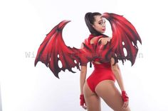 Donkey And Dragon, Red Dragon, Dragon Costume, Monster Design, Fantasy Costumes, Photo Props, Wings, Wonder Woman, Cosplay