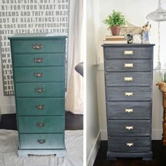 Repurposed dresser into craft room storage. #organization #upcycle via @ lizmarieblog.com
