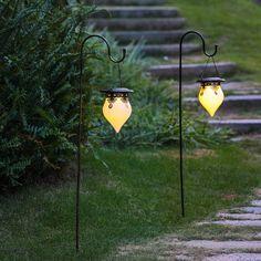 Luxen Home Solar Powered Pathway Light Pack & Reviews | Wayfair Solar Light Crafts, Diy Solar, Solar Led, Canning Jar Lights, Canning Jars, Solar Hanging Lanterns, Lanterns Decor, Solar Licht, Life Hacks