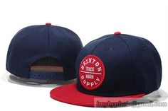 26c5fd4dac7ad Brixton Snapback Hats Flat Brim Caps Navy Red 75