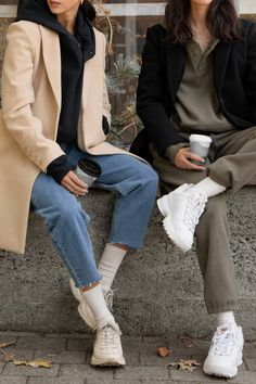 Womens > All Clothing > Coats & Jackets Oak And Fort, Fashion Essentials, Crop Tee, Winter Wardrobe, Playing Dress Up, Normcore, Style Inspiration, Casual, How To Wear