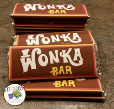 wonka bar wrapper free printable