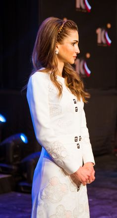 Queen Rania at the 10th Teacher Award and 4th Principal Award Ceremony held by the Queen Rania Award for Excellence in Education (QRAEE) Amman, Jordan/ December 14, 2015