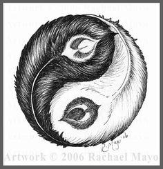yin yang feathers - Google Search