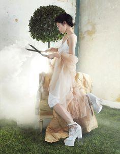 Brit Wonderland: Ming Xi by Nikolay Biryukov for Elle China