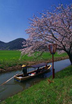 Riverside Tour, Omihachiman, Shiga, Japan