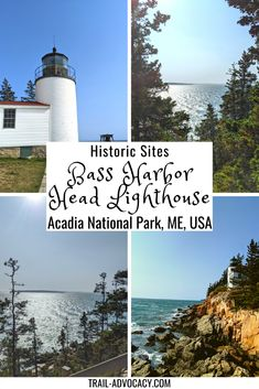 Acadia National Park is home to 3 lighthouses, but only 1 is accessible by car: Bass Harbor Head Lighthouse. It is nestled on the tip of Southwest Harbor along the rocky beach. It's such a beautiful spot to take in the ocean! #acadianationalpark #acadia #hiking #maine Bass Harbor Lighthouse, Lighthouse Trails, Acadia National Park, National Parks, New England Travel, United States Travel, Historical Sites, Travel Usa, North America